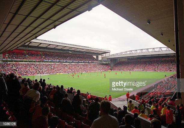 General view of the stadium during a preseason friendly between Liverpool and Parma at Anfield in Liverpool England Liverpool won the match 50...
