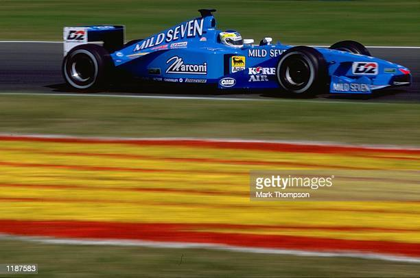 Giancarlo Fisichella in action for Benetton during the Formula One Hungarian Grand Prix at the Hungaroring near Budapest in Hungary Mandatory Credit...