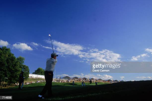 Jack Nicklaus watches his ball during the PGA Championship, part of the PGA Tour at the Valhalla Golf Club in Louisville, Kentucky.Mandatory Credit:...