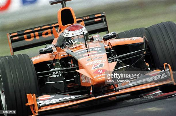 Jos Verstappen of Holland and Arrows during the first free practice session for the Hungarian Grand Prix at Budapest Hungary Mandatory Credit Mark...