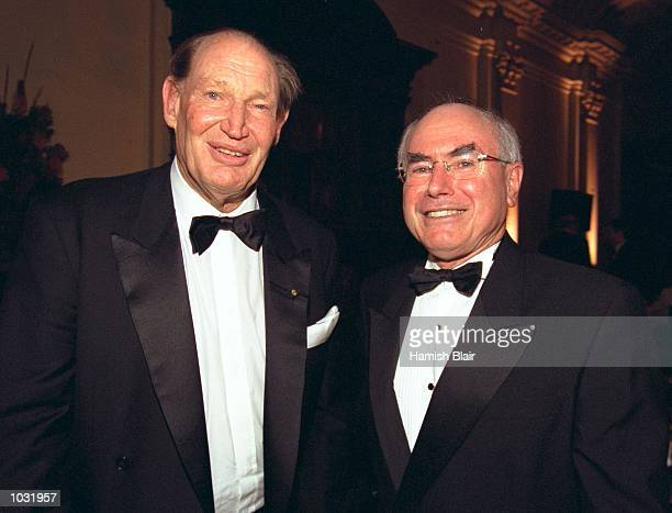 Kerry Packer and Australian Prime Minister John Howard at the Sir Donald Bradman Oration held in Melbourne Australia Mandatory Credit Hamish...