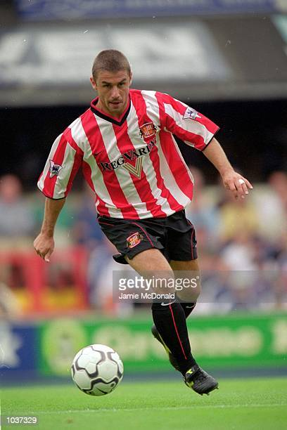 Kevin Phillips of Sunderland in action during the FA Carling Premier League match against Ipswich Town played at Portman Road in Ipswich London...