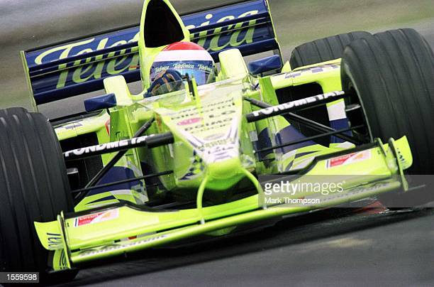 Marc Gene of Spain and Minardi during the first free practice session for the Hungarian Grand Prix at Budapest Hungary Mandatory Credit Mark...
