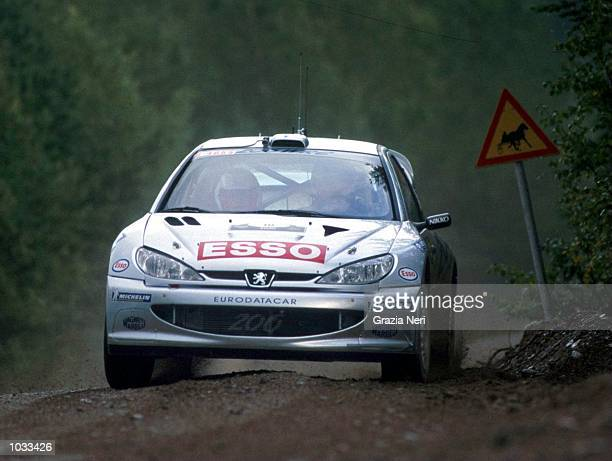 Marcus Gronholm of Finland in the Peugeot 206 in action during the World Rally Championships in Finland Mandatory Credit Grazia Neri/ALLSPORT