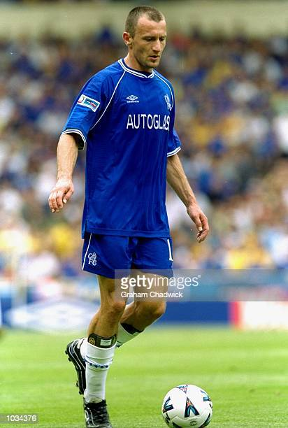 Mario Stanic of Chelsea in action during the Charity Shield against Manchester United at Wembley Stadium in London Chelsea won the match 20 Mandatory...