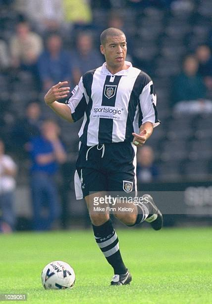 Mark Warren of Notts County in action during the Nationwide League Division Two match against Millwall at Meadow Lane in Nottingham England Millwall...