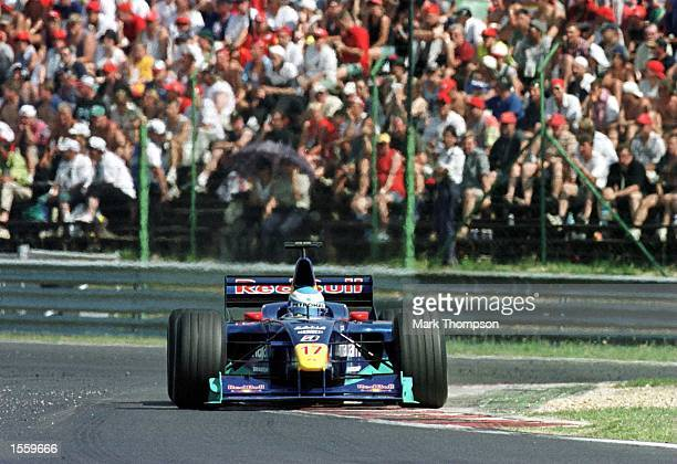 Mika Salo of Finland and Sauber during the Hungarian Grand Prix in Budapest Hungary Mandatory Credit Mark Thompson/ALLSPORT