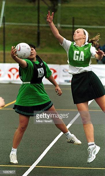 Nottinghamshire and Oxfordshire play netball during the BAA Millennium Youth Games Grand Final in Southampton For further information please call...