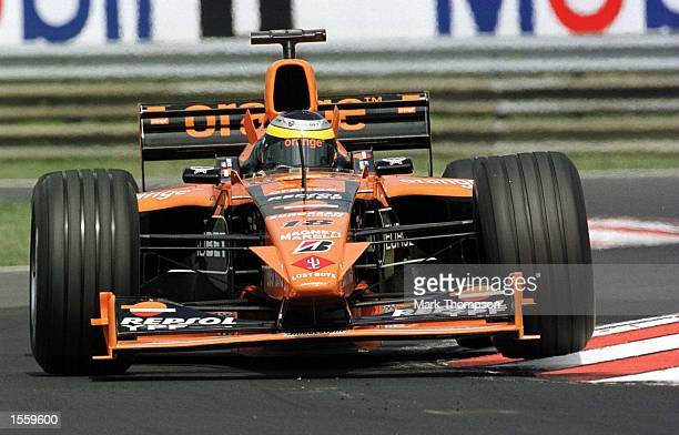 Pedro De la Rosa of Spain and Arrows during the first free practice session for the Hungarian Grand Prix at Budapest Hungary Mandatory Credit Mark...