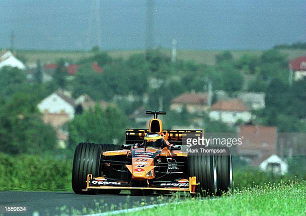 Pedro de la Rosa of Spain and Arrows during the third free practice session for the Hungarian Grand Prix at Budapest Hungary Mandatory Credit Mark...