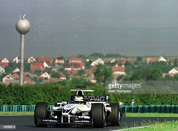 Ralf Schumacher of Germany and BMW Williams during the third free practice session for the Hungarian Grand Prix at Budapest Hungary Mandatory Credit...