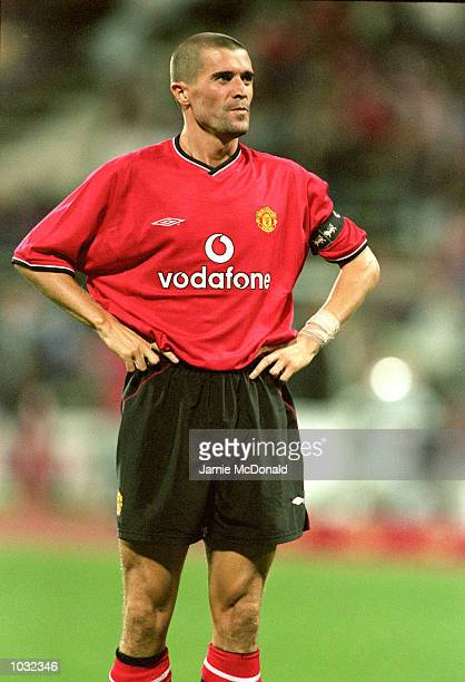 Roy Keane of Manchester United in action during the Opel Masters preseason tournament against Real Madrid played at the Olympic Stadium in Munich...