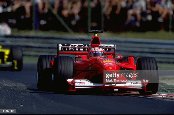 Rubens Barrichello in action in his Ferrari during the Formula One Hungarian Grand Prix at the Hungaroring near Budapest in Hungary Mandatory Credit...