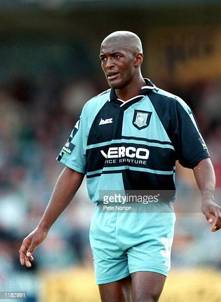 Steve Brown of Wycombe Wanderers in action during the Nationwide League Division Two match against Northampton Town at Adams Park in Wycombe England...