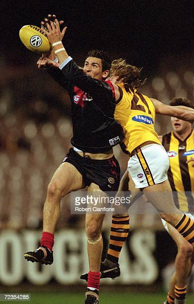Adem Yze for Melbourne in action during the round 19 AFL match played between the Melbourne Demons and the Hawthorn Hawks held at the Melbourne...