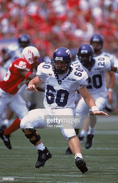 Andy Boerckel of the Texas Christian Horned Frogs running during the game against the Nebraska Cornhuskers at Memorial Stadium in Lincoln Nebraska...