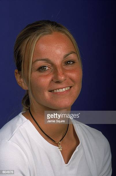 AnneGaelle Sidot of France poses for a WTA studio portrait in New York New YorkMandatory Credit Jamie Squire /Allsport