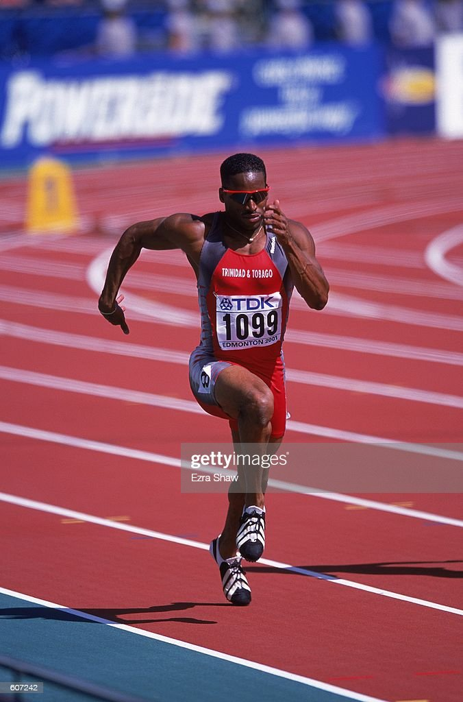 Ato Boldon Of Trinidad Tobago Running During The Mens 100m Event