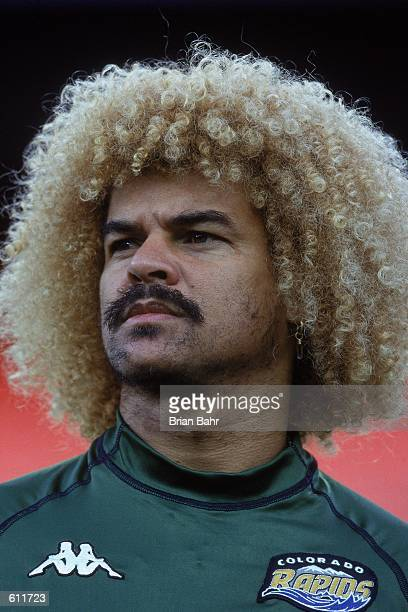 Carlos Valderrama of the Colorado Rapids poses for a portrait after the MLS game against the Kansas City Wizards at The Mile High Stadium in Denver...