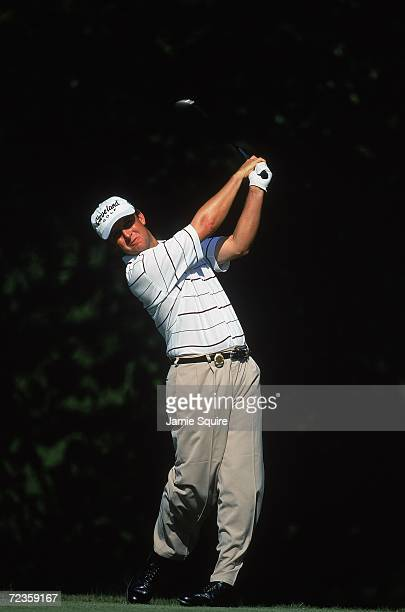 David Toms watches his ball during the PGA Championships at the Atlanta Athletic Club in Duluth GeorgiaMandatory Credit Jamie Squire /Allsport