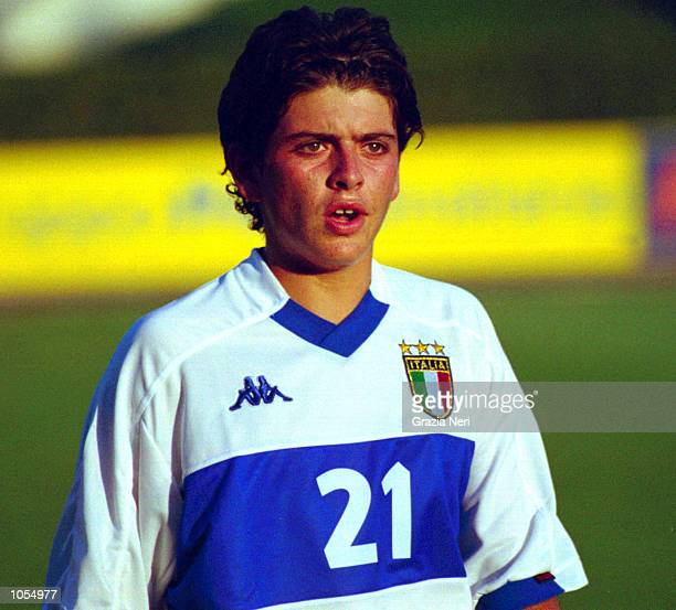 Diego Maradona Junior of the Italy Under 16 side during national team training at the Coverciano in Florence Italy DIGITAL IMAGE Mandatory Credit...