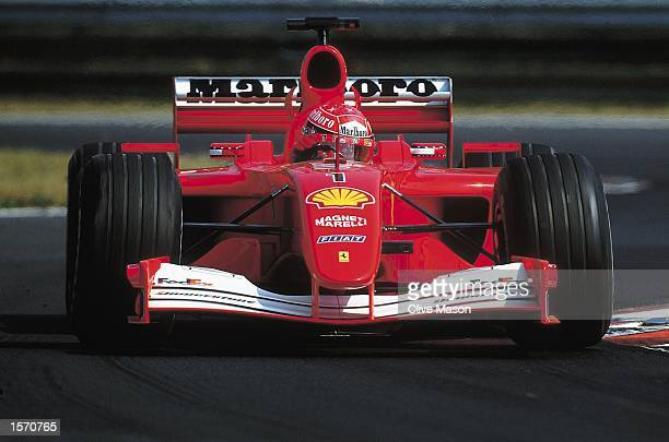 Ferrari driver Michael Schumacher during the Formula One Hungarian Grand Prix held at the Hungaroring in Budapest Hungary Michael Schumacher won the...