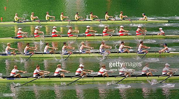 Great Britains mens eights during the FISA World Rowing Championships at Lucerne Switzerland Mandatory Credit Jamie McDonald/ALLSPORT