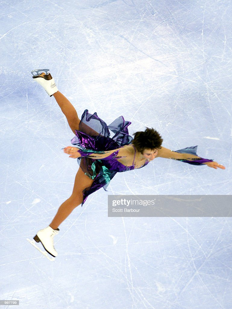 Irina Slutskaya of Russia in action whilst winning gold in the Ladies Free Skate during the Figure Skating held at the Brisbane Entertainment Centre at the Goodwill Games in Brisbane, Australia. DIGITAL IMAGE. Mandatory Credit: Scott Barbour/ALLSPORT