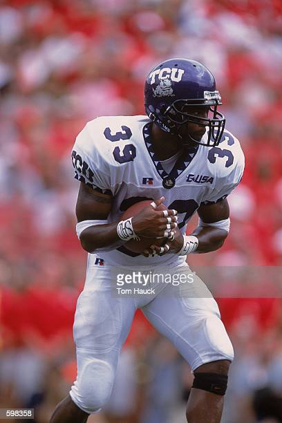 Jason Goss of the Texas Christian Horned Frogs running with the ball during the game against the Nebraska Cornhuskers at Memorial Stadium in Lincoln...