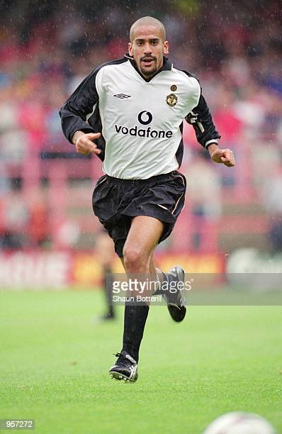 Juan Sebastian Veron of Manchester United in action during the Preseason friendly match against Wrexham played at the Racecourse Ground in Wrexham...