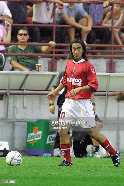 Jung Hwan Ahn of Perugia in action during the Serie A game between Inter Milan and Perugia at the San Siro Stadium, Milan. DIGITAL IMAGE Mandatory...