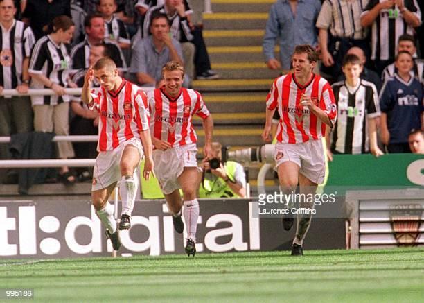 Kevin Phillips of Sunderland celebrates after scoring the first goal during the Newcastle United v Sunderland FA Barclaycard Premiership match at St...