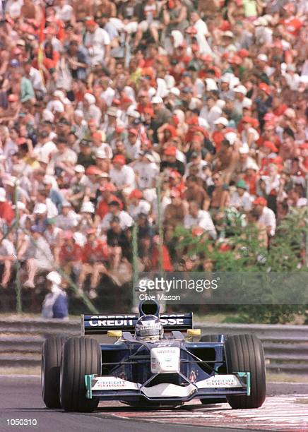 Kimi Raikkonen of Finalnd and Sauber in action during the Hungarian Grand Prix in Budapest Hungary Mandatory Credit Clive Mason/ALLSPORT