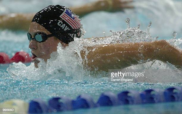 Kristen Caverly of the USA in action during the Women's 400 Meter Medley at the Chandler Aquatics Centre at the Goodwill Games in Brisbane Australia...