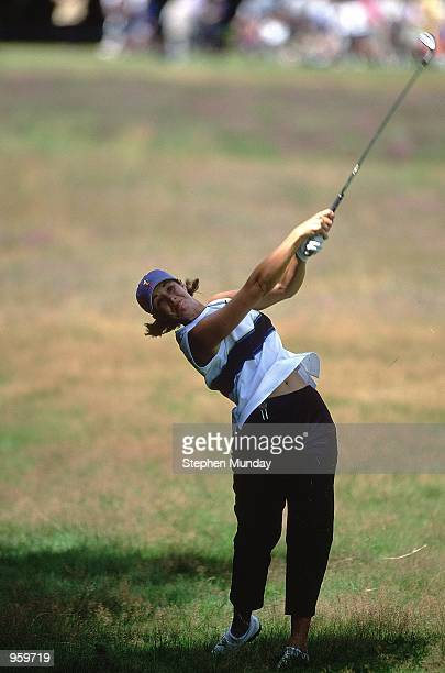 Laura Diaz of USA plays out from the light rough during the Weetabix Women's Open on the Old Course at Sunningdale Golf Club in Sunningdale England...