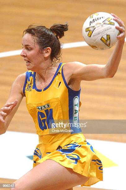 Liz Ellis of the Swifts in action during the Commonwealth Bank Trophy Netball Grand final between the Sydney Swifts and the Adelaide Thunderbirds...