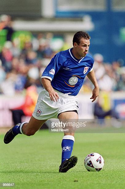 Lucas Neill of Millwall runs with the ball during the Nationwide League Division One match against Norwich City played at The New Den in London...
