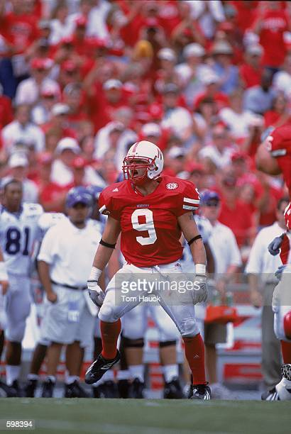 Mark Vedral of the Nebraska Cornhuskers in action during the game against the Texas Christian Horned Frogs at Memorial Stadium in Lincoln Nebraska...