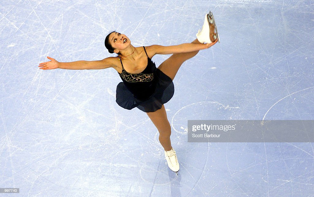 Michelle Kwan of USA in action during the Ladies Free Skating held at the Brisbane Entertainment Centre at the Goodwill Games in Brisbane, Australia. DIGITAL IMAGE. Mandatory Credit: Scott Barbour/ALLSPORT