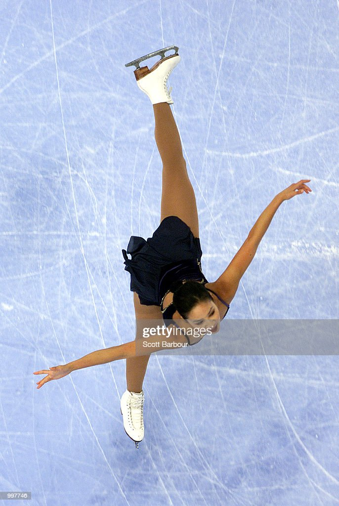 Michelle Kwan of USA in action whilst winning silver during the Ladies Free Skating held at the Brisbane Entertainment Centre at the Goodwill Games in Brisbane, Australia. DIGITAL IMAGE. Mandatory Credit: Scott Barbour/ALLSPORT