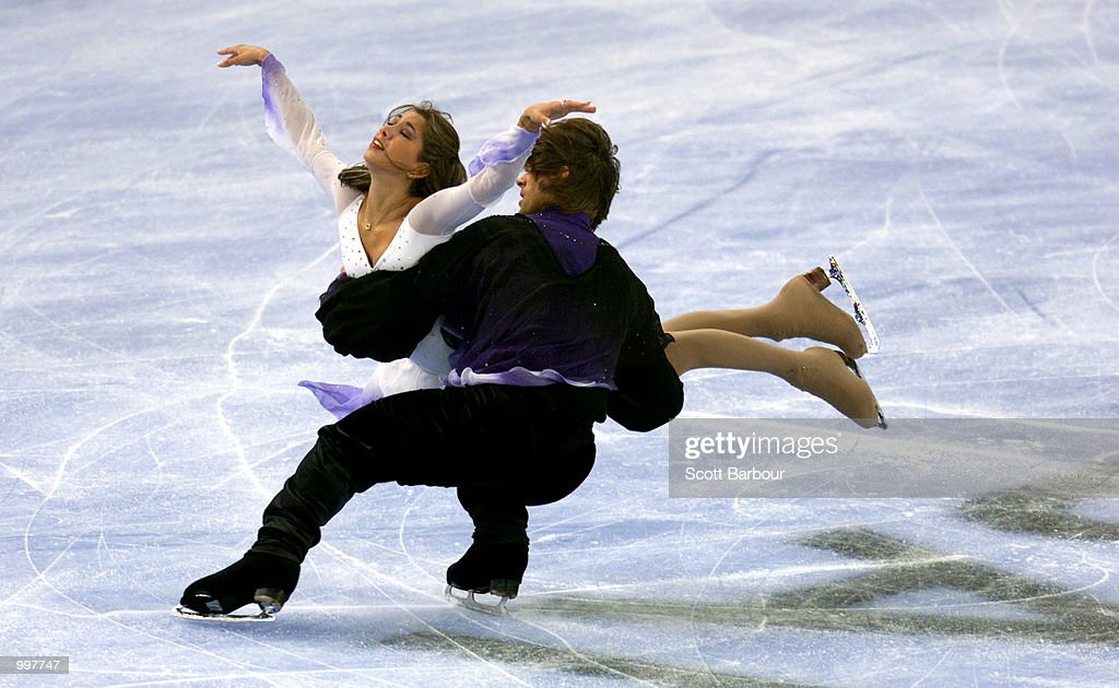 Naomi Lang and Peter Tchernyshev of USA in action during the Free Dance held at the Brisbane Entertainment Centre at the Goodwill Games in Brisbane, Australia. DIGITAL IMAGE. Mandatory Credit: Scott Barbour/ALLSPORT