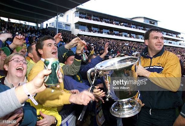Owen Finegan of Australia celebrate with the crowd after the Tri Nations match between Australia and New Zealand Australia defeated New Zealand 2315...