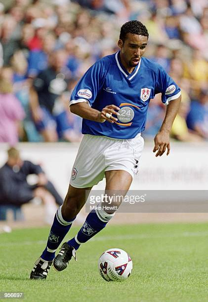 Paul Ifill of Millwall runs with the ball during the Nationwide League Division One match against Norwich City played at The New Den in London...