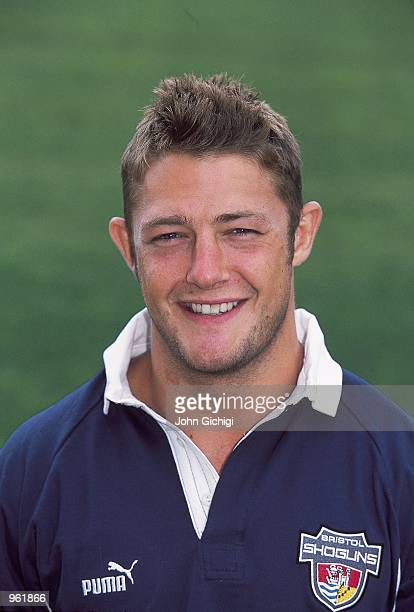 Portrait of David Rees of Bristol during the Bristol Rugby Union squad 2001/02 photoshoot held at Coombe Dingle in Bristol England Mandatory Credit...