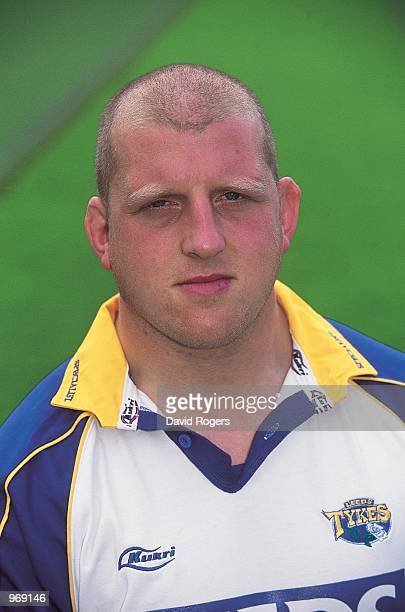 Portrait of Mike Shelley of Leeds during the Leeds Rugby Union squad 2001/02 photoshoot held at Headingley in Leeds England Mandatory Credit Dave...