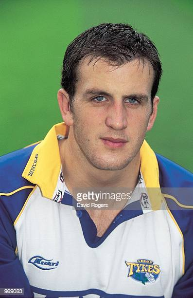 Portrait of Phil Murphy of Leeds during the Leeds Rugby Union squad 2001/02 photoshoot held at Headingley in Leeds England Mandatory Credit Dave...