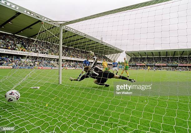 Steve Claridge of Millwall opens the scoring during the Nationwide League Division One match against Norwich City played at The New Den in London...