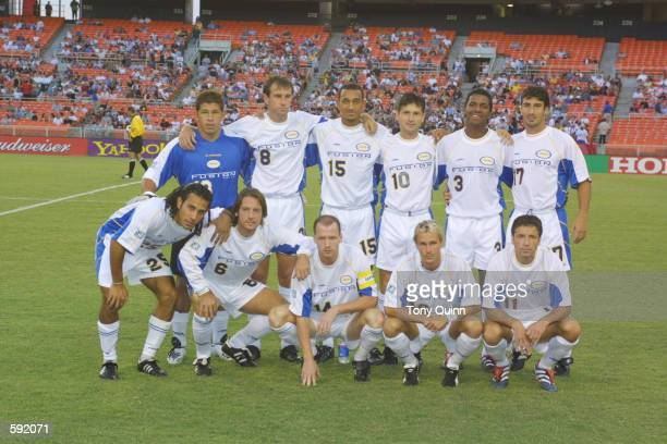 The Miami Fusion starters pose for a photo before the match against the DC United at RFK Stadium in Washington DC Miami rally for a 22 draw with DC...