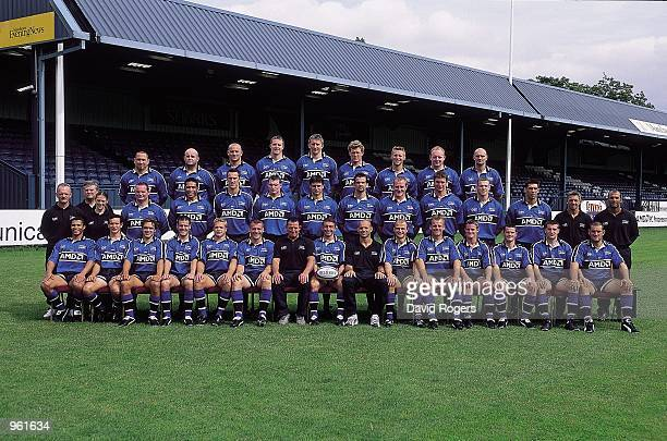 The Sale Rugby Squad line up at their Heywood Road Ground in Manchester England Mandatory Credit Dave Rogers /Allsport