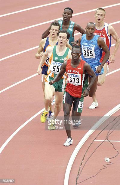 Wilfred Bungei of Kenya leads his heat in the first round of the men's 800 meters during the 8th IAAF World Athletic Championships in Edmonton Canada...